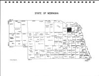 Nebraska State Map, Pierce County 1992